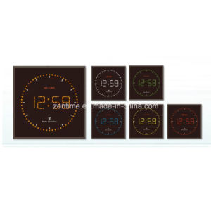 Radio Controlled Electric LED Digital Wall Time Clock pictures & photos