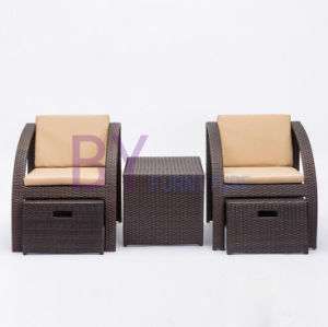 by-490 Wholesale Indoor Balcony Hotel Three-Piece Rattan Wicker Garden Furniture pictures & photos