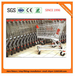 Heavy Duty Commercial Shopping Basket Trolley Flat Trolley, Metal Shopping Flat Trolley 08015 pictures & photos