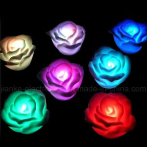 Rose Shape LED Small Night Light with Logo Printed (4033) pictures & photos