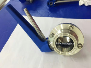 Sanitary Stainless Steel Tri Clover Compatible Butterfly Valve - Pull Trigger pictures & photos