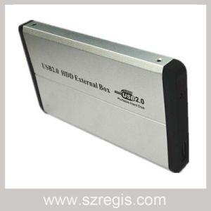 Aluminum Sandblasting 2.5-Inch Parallel USB2.0 HDD Enclosure Support 500GB pictures & photos