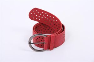 Lady′s Fashion PU Belt with Holes Decoration pictures & photos