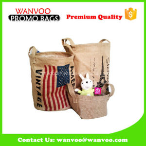 Promotional Small Jute Toys Bag for Clutter Storage pictures & photos