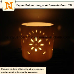 Hot Selling Hollow out Ceramic Christmas Candle Holder (the LED lamp shade) pictures & photos