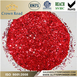 "1/128"". 008"" Red Glitter for Plastic Use"