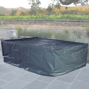 PVC Coated Polyester Outdoor 6seater Rectangular Table Cover pictures & photos