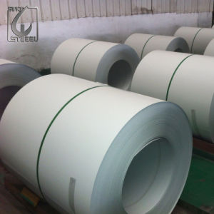off White Prepainted Color Coated Steel Coil with PVC Coating pictures & photos