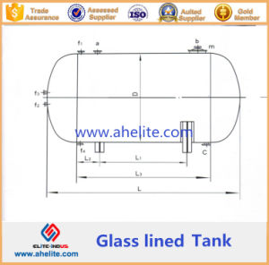 High Pressure Reactor Glass Lined Tank (horizontal type) pictures & photos
