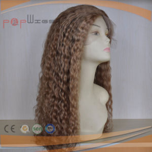 Full Hand Tied Lace Base Dark Blond Color High End Skin Top Work Wig pictures & photos
