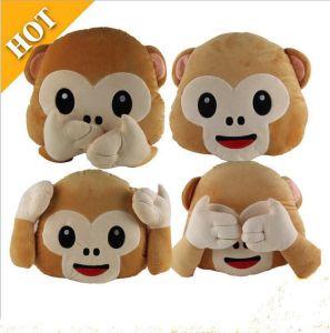 New Emotiocon Stuffed & Plush Monkey Toy Emoji Pillow pictures & photos