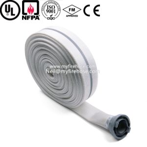 PVC Double Jacket Canvas Fire Fighting Hose Pipe Price pictures & photos