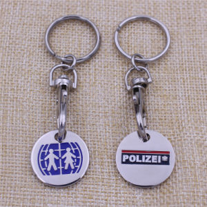 Custom Cheapest Keychain Metal Europe Token Nickel Free Trolly Coin pictures & photos