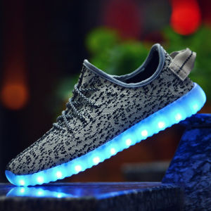 35-46 Plus Size Men Shoes Casual LED Shoes Breathable Men Casual Shoes Light Lace up