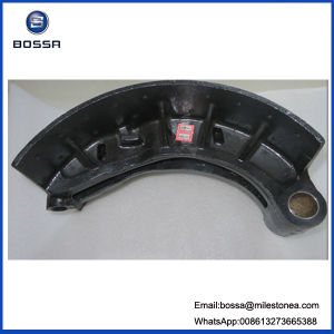 Oil Brake Shoe 220 mm 15holes Qt450 Material Iron Casting Type for Japan Truck Trailer for Nissan pictures & photos