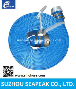 PVC Layflat Hose With Blue Color pictures & photos