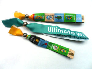 Promotional Custom Fabric Woven Wristbands pictures & photos