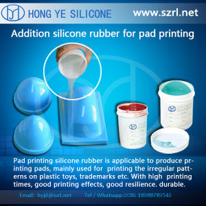 RTV Liquid Raw Material Printing Siliconer Rubber for Pads Making pictures & photos