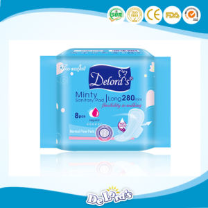 OEM/ODM High Absorption Cotton Sanitary Pad, Sanitary Napkin pictures & photos