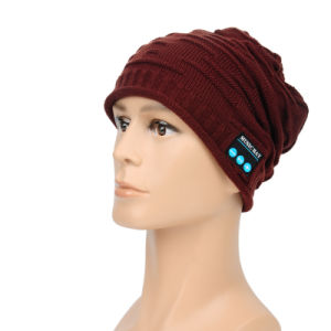 Fashion Rechargeable Beanie Knitted Winter Bluetooth Cap Hat for Men