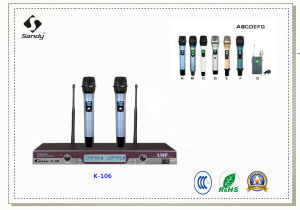 UHF Wireless Microphone K-106 pictures & photos
