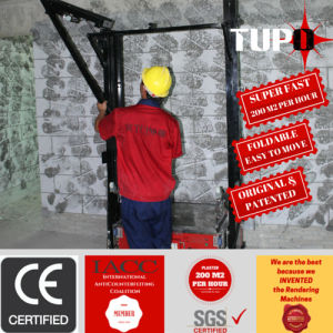 Tupo Automatic Rendering Machine for Internal Wall Plastering pictures & photos