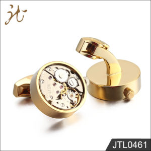 Nice High Quality Gold Watch Movement Cufflinks Wholesale pictures & photos