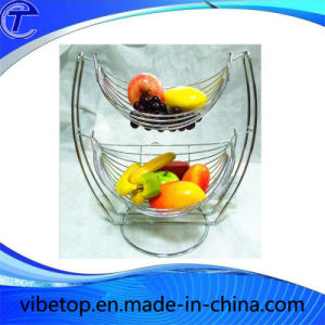 2-Tiered Metal Fruit Storage Display Basket pictures & photos