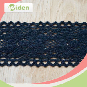 6cm Fantastic Latest Design Top Black Embroidery Lace pictures & photos