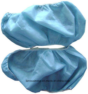 Ly PP Nonwoven Blue Shoecover (LY-NSC-B) pictures & photos