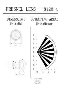 Plastic PIR Sensor Motion Detector Dome Fresnel Lens (HW8120-4) pictures & photos