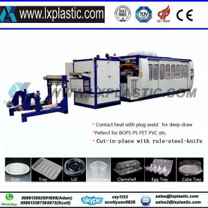 Chinese Best Factory Sell Vacuum and Pressure Thermoforming Tilt-Mold Cup Making Machine for Disposable Cup pictures & photos