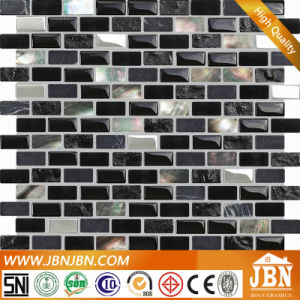 Black Lip Shell, Marble and Glass Mosaic for Kitchen Border (M853002) pictures & photos