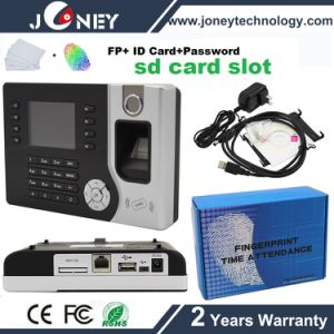 RFID Card Reader/Password/Fingerprint Time Recorder/Attendance/Clock with SD Card Slot pictures & photos