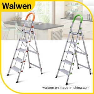 Folding Agility Handrail Steel Step Ladder pictures & photos