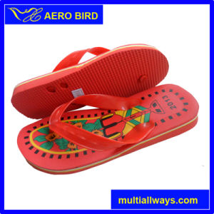 PVC Flower Printing Slipper and Sandal for Men (13L033) pictures & photos