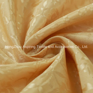 100% Polyester Satin Jacquard Curtain Fabric pictures & photos