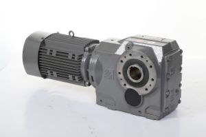 K Series Bevel Gear Motor Transmission Gear Box pictures & photos