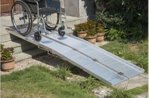 Folding Portable Ramp Aluminium Wheelchair Ramp pictures & photos