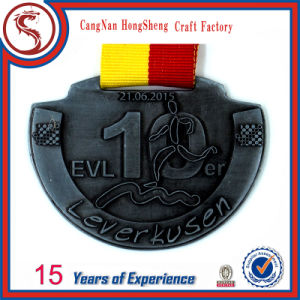Custom 3D Gold Medal with Short Ribbon pictures & photos