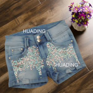 Customized OEM New Designer Womens Shorts Jeans (HDLJ0056) pictures & photos