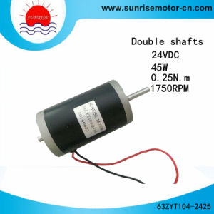 63zyt104-2425 24VDC 45W Double Shfats DC Motor pictures & photos