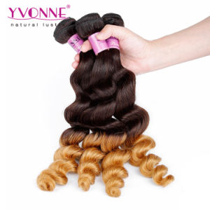 High Quality Ombre Color Remy Hair Weaves Peruvian Human Hair pictures & photos