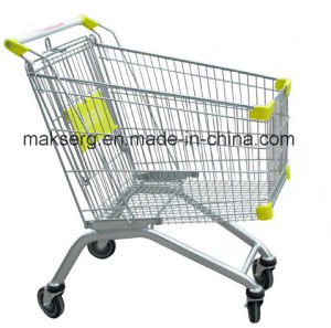 China Cheap Metal Shopping Cart Supplier Shopping Trolley pictures & photos