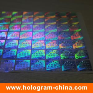 Invisible Fluorescent Security 3D Laser Holographic Sticker pictures & photos
