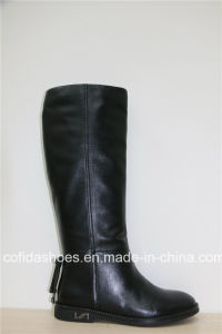 Comfort Casual Flat Leather Women Winter Boots pictures & photos