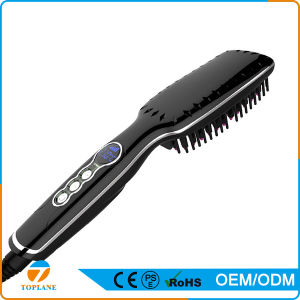 New Style High Quality LCD Fast Heating Electric Hair Straightener Brush pictures & photos