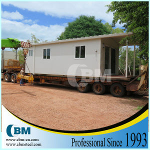 Prefab Shipping Container House with Two Slopes Steel Sheet Roof