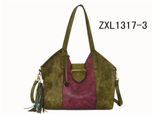 Hot Trent Cheap PU Leather Ladies Handbag Tote Bag with Power Bank (ZXL1617-3) pictures & photos