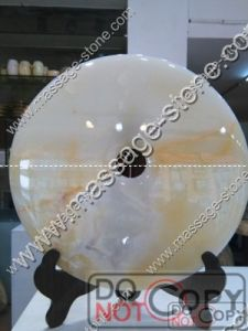 Exclusive Natural Jade Bi and Jade Disc for Home Decoration